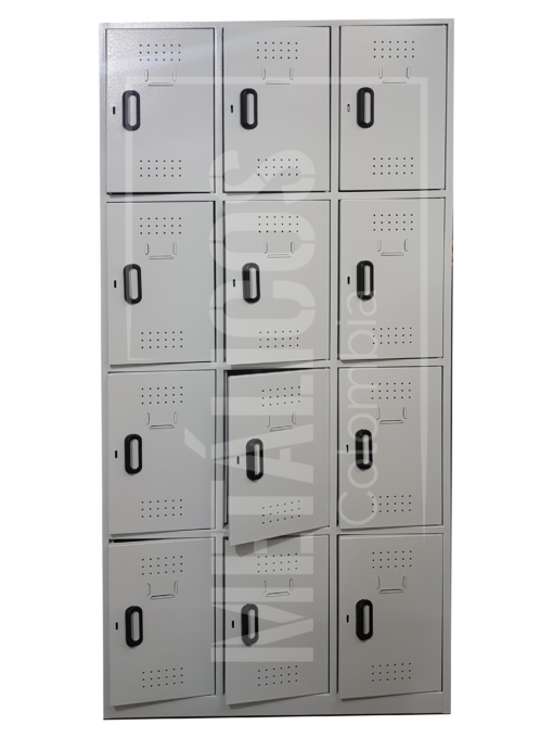 locker metálico de 12 compartimentos