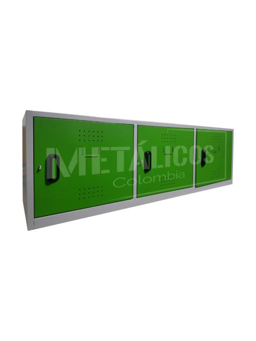 locker de 3 puestos horizontal