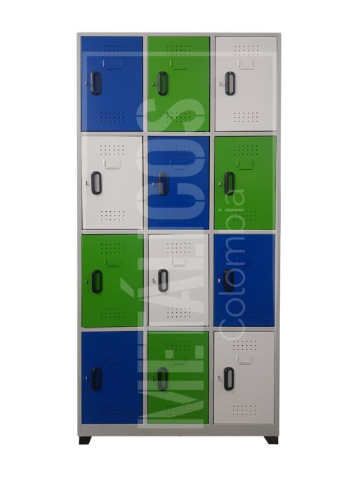 locker metalico de 12 puestos