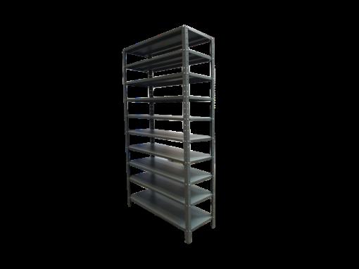 estante liviano con 10 entrepaños