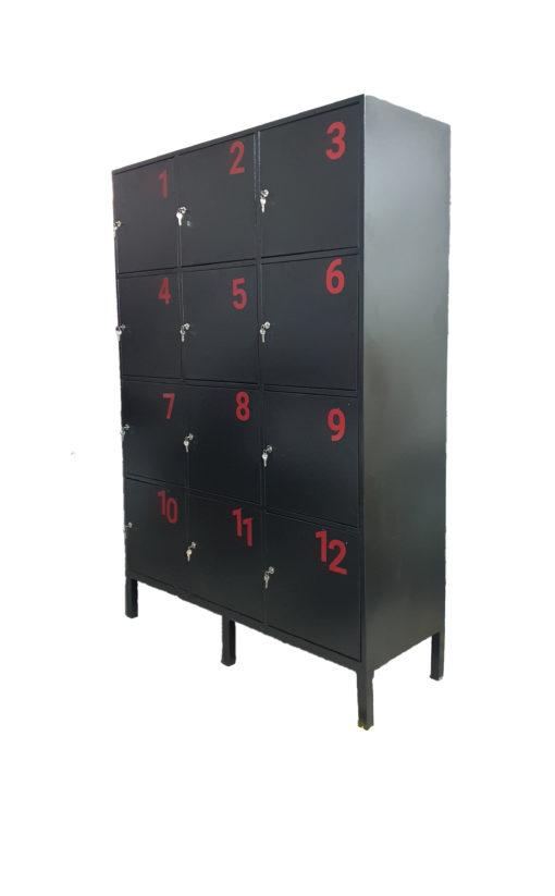locker 12 puestos numerado