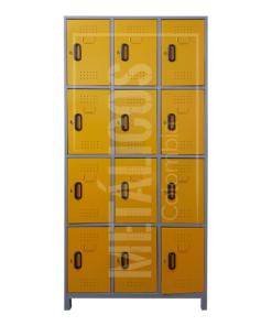 locker metálico de 12 puestos