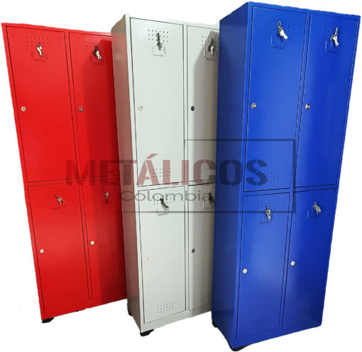 locker metalico de 4 compartimentos